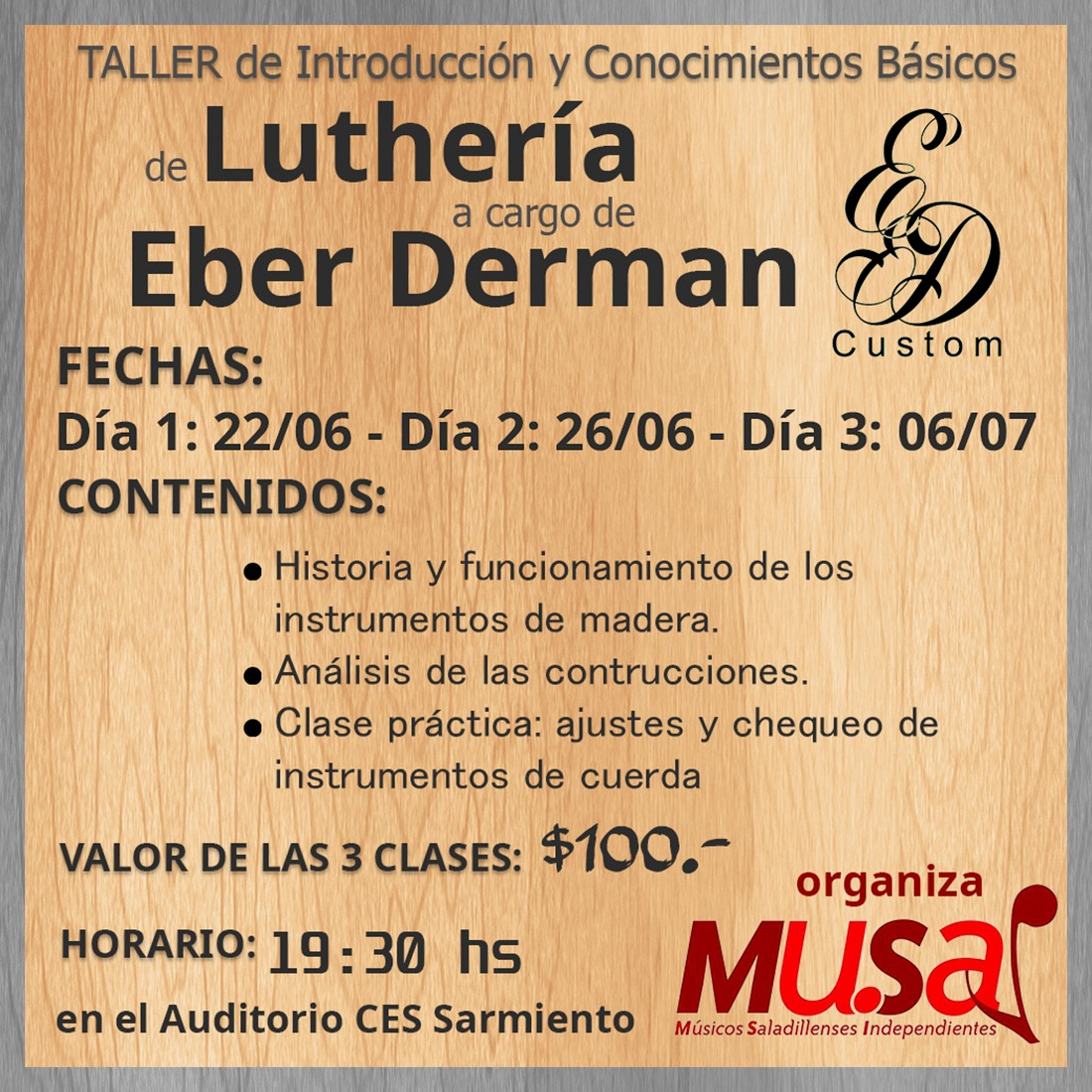 2018 06 14 taller lutheria Eber derman